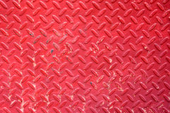 Red iron plate Royalty Free Stock Photo
