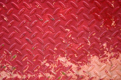 Red iron plate Stock Image