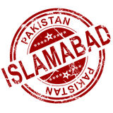 Red Islamabad stamp Stock Photos