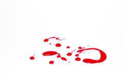 Red,isolate,background Stock Images