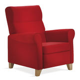 Red isolated armchair stock photography