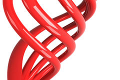 Red isolated cables stock illustration