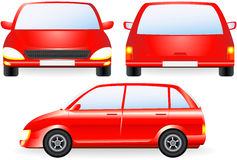 Red isolated car silhouette Stock Photos