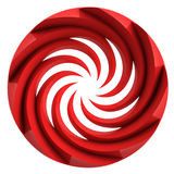 Red isolated central swirl shape Stock Image
