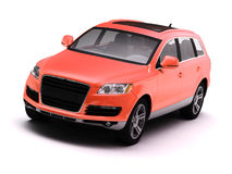Red isolated comfortable SUV Royalty Free Stock Photography