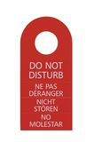 Red Isolated Do Not Disturb Door Handle Tag Royalty Free Stock Photo