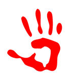 Red isolated handprint Royalty Free Stock Photography