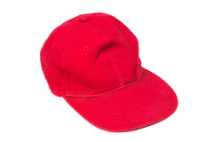 Red isolated hat Stock Image