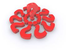 Red Isolated Question Marks Royalty Free Stock Photography