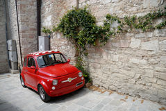Red Italian car Royalty Free Stock Images