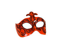 Red italian carnaval mask for perfomance Stock Image