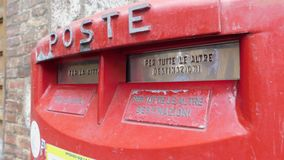 Red italian letter box royalty free stock images