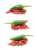Red italian peppers isolated Royalty Free Stock Photo