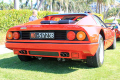 Red italian supercar rear Royalty Free Stock Photos