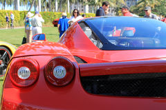 Red italian supercar tail lamps detail Royalty Free Stock Image