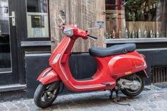 Red Italian Vespa Scooter Royalty Free Stock Photos