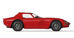 Red italian vintage race car Royalty Free Stock Photo
