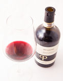 Red italian win, Primitivo di Manduria natural sweet. Primitivo is a dark-skinned grape known for producing inky, tannic wines, particularly Primitivo di Royalty Free Stock Photo