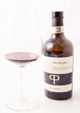 Red italian win, Primitivo di Manduria natural sweet. Primitivo is a dark-skinned grape known for producing inky, tannic wines, particularly Primitivo di Stock Images