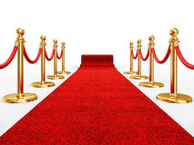 Red ivent carpet Stock Photos