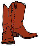 Red jackboots Royalty Free Stock Photography