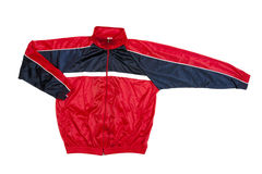 Red jacket. A red jacket isolate on white background Royalty Free Stock Images