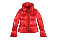 Red jacket. Isolated on white Royalty Free Stock Photography