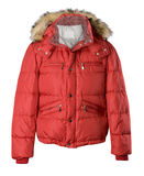 Red jacket isolated Stock Photography