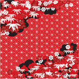 Red Japanese background Royalty Free Stock Image