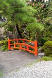 Red Japanese bridge Royalty Free Stock Photography
