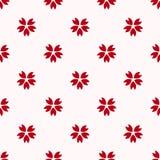 Red japanese cherry sakura pattern Stock Image
