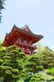 Red Japanese Pagoda Royalty Free Stock Photos