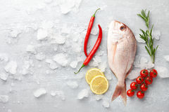 Red Japanese seabream cooking Stock Image