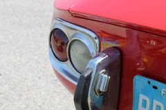 Red japanese sports car rear corner Royalty Free Stock Photo