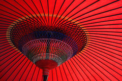 Red japanese Umbrella Royalty Free Stock Photography