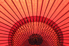 Red Japanese Umbrella Stock Image