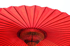 Red Japanese Umbrella Stock Photography