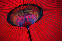 Red japanese umbrella Royalty Free Stock Image