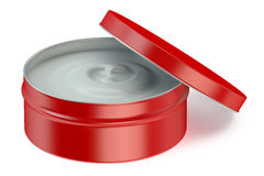 Red jar of cosmetic cream Stock Image