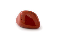 Red jasper gem white background Royalty Free Stock Image