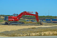 Heavy Plant Machinery - Earth Digger With Tracks Stock Photo