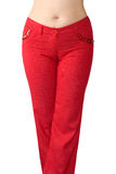 Red jeans Stock Images