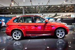 Red jeep car BMW X5 M Royalty Free Stock Photos