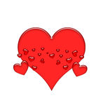 Red Jellly Valentine Hearts Stock Photography