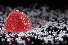 Red jelly candy Royalty Free Stock Image