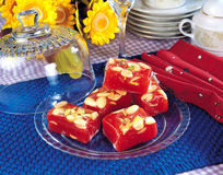 Red Jelly Halwa Stock Images