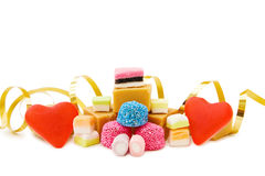 Free Red Jelly Hearts And Mix Of Sweets Royalty Free Stock Images - 10267609