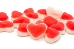 red jelly hearts Royalty Free Stock Image