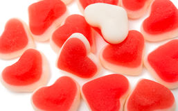 red jelly hearts Stock Photography