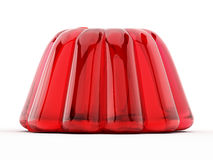 Red jelly isolated on white background. 3D illustration Royalty Free Stock Photo